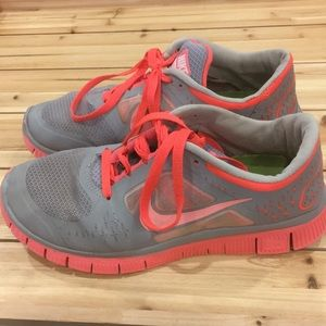 Nike Free Run 3 women's size 8 Pink/Grey